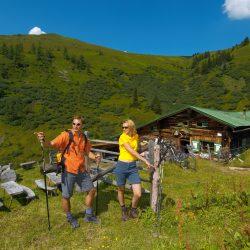 Gastein Hütte Wanderer