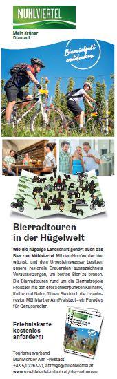 Plakat Bierradln im Mühlviertel © Tourismusverband Mühlviertler Alm Freistadt