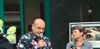 Sepp Wejwar mit DI Birgit Rieber beim Beer Battle im HANDWERK Restaurant