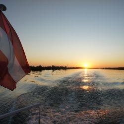 Sonnenuntergang Donau @ BRANDER Schiffahrt