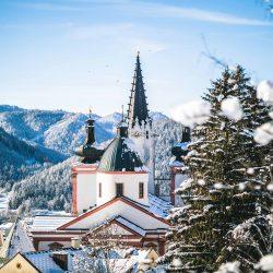 Blick auf die Mariazeller Basilika @ www.mariazell.blog