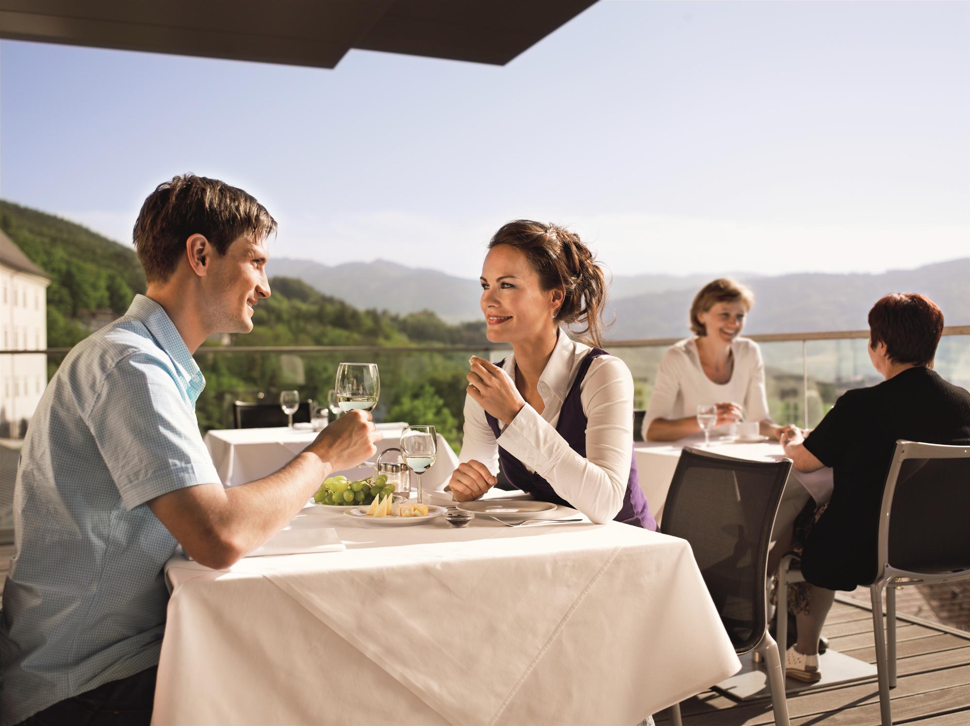 Terrasse @ Genusszentrum Stift Schlierbach / SPES Hotel