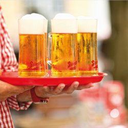Bierkrüge Gastgarten Stiegl Brauerei @ Stiegl Brauwelt