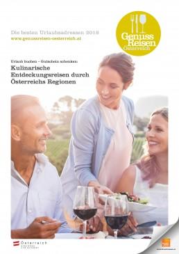 Titelseite Genuss Reisen Österreich Magazin 2018